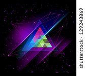 hipster space triangle mystic... | Shutterstock .eps vector #129243869