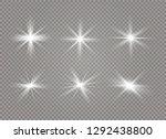 white glowing light explodes on ... | Shutterstock .eps vector #1292438800