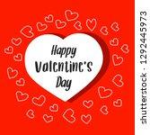 vector valentine's day greeting ... | Shutterstock .eps vector #1292445973