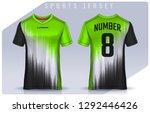 t shirt sport design template ... | Shutterstock .eps vector #1292446426