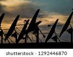 silhouette of plane on...   Shutterstock . vector #1292446870