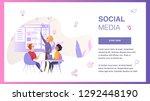 social media interface...
