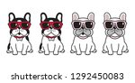 dog vector french bulldog... | Shutterstock .eps vector #1292450083