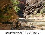 virgin river in zion np | Shutterstock . vector #12924517