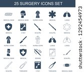 25 surgery icons. trendy... | Shutterstock .eps vector #1292454973