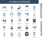 25 seed icons. trendy seed... | Shutterstock .eps vector #1292456686