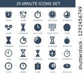 minute icons. trendy 25 minute... | Shutterstock .eps vector #1292456749