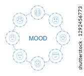 mood icons. trendy 8 mood icons.... | Shutterstock .eps vector #1292456773