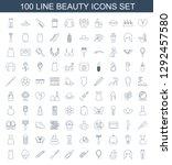 beauty icons. trendy 100 beauty ... | Shutterstock .eps vector #1292457580