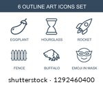 art icons. trendy 6 art icons.... | Shutterstock .eps vector #1292460400