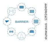 barrier icons. trendy 8 barrier ... | Shutterstock .eps vector #1292460499