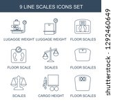 scales icons. trendy 9 scales... | Shutterstock .eps vector #1292460649