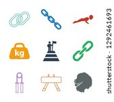 9 strength icons. trendy... | Shutterstock .eps vector #1292461693