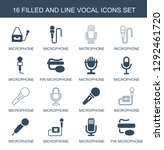 16 vocal icons. trendy vocal...   Shutterstock .eps vector #1292461720