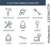 9 handle icons. trendy handle... | Shutterstock .eps vector #1292461729