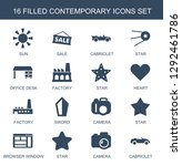 contemporary icons. trendy 16...   Shutterstock .eps vector #1292461786