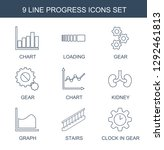 progress icons. trendy 9... | Shutterstock .eps vector #1292461813