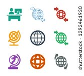9 around icons. trendy around... | Shutterstock .eps vector #1292461930