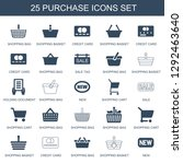 purchase icons. trendy 25... | Shutterstock .eps vector #1292463640