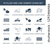 16 cement icons. trendy cement...   Shutterstock .eps vector #1292466466