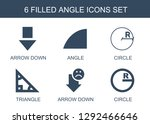 6 angle icons. trendy angle... | Shutterstock .eps vector #1292466646