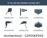 blowing icons. trendy 6 blowing ... | Shutterstock .eps vector #1292469343