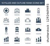 rank icons. trendy 16 rank... | Shutterstock .eps vector #1292469493