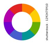 hallow color wheel or color... | Shutterstock .eps vector #1292475910