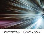 flashing lights on the night... | Shutterstock . vector #1292477239