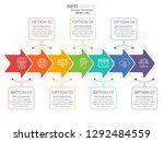business 7 step process chart... | Shutterstock .eps vector #1292484559
