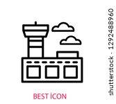 airport concept line icon....