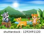 cartoon of the beautiful... | Shutterstock .eps vector #1292491120
