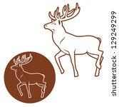 deer sign   vector illustration | Shutterstock .eps vector #129249299