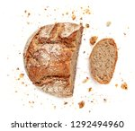 sliced bread isolated on  white ... | Shutterstock . vector #1292494960