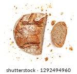 sliced bread isolated on  white ...   Shutterstock . vector #1292494960