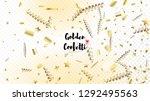 modern realistic gold tinsel...   Shutterstock .eps vector #1292495563