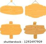 wooden door plate and standing...   Shutterstock .eps vector #1292497909