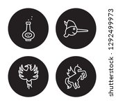 4 linear vector icon set  ... | Shutterstock .eps vector #1292499973