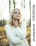 portrait of a beautiful girl   Shutterstock . vector #129250106