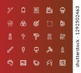 editable 25 painter icons for... | Shutterstock .eps vector #1292502463