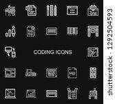 editable 22 coding icons for... | Shutterstock .eps vector #1292504593