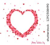 happy valentines day card ... | Shutterstock .eps vector #1292508490
