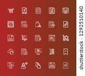 editable 25 add icons for web... | Shutterstock .eps vector #1292510140