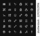 editable 36 maintenance icons... | Shutterstock .eps vector #1292512996