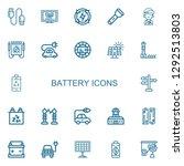 editable 22 battery icons for...   Shutterstock .eps vector #1292513803