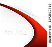 red line curve vector... | Shutterstock .eps vector #1292517916