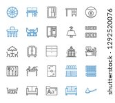 table icons set. collection of... | Shutterstock .eps vector #1292520076