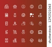 editable 25 tax icons for web...   Shutterstock .eps vector #1292521063