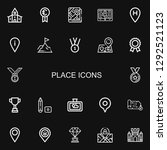 editable 22 place icons for web ...