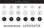 linen icons set. collection of... | Shutterstock .eps vector #1292524729